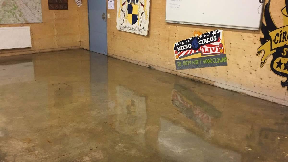 Epoxy vloeren in scoutinggebouw roden