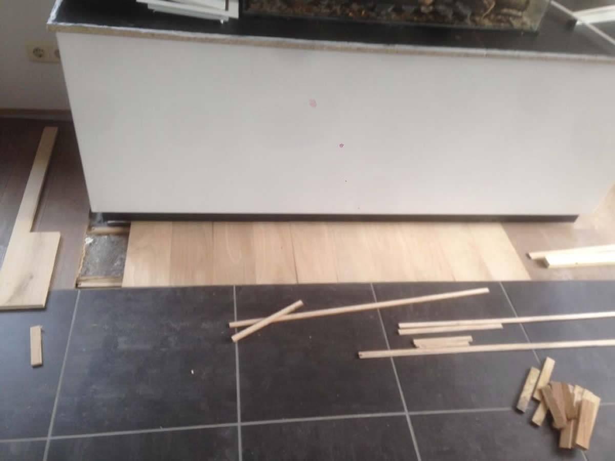 Eiken houten vloer aanhelen