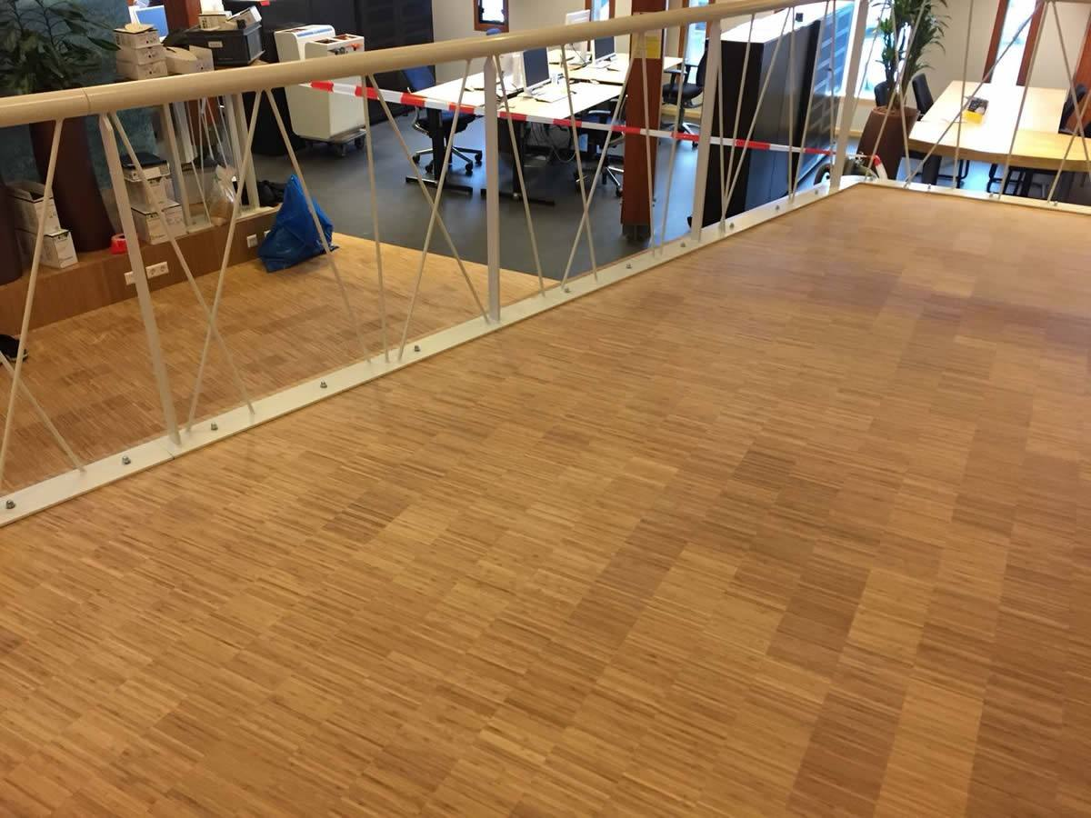 Vloerrenovatie bamboe vloer rijkswaterstaat assen