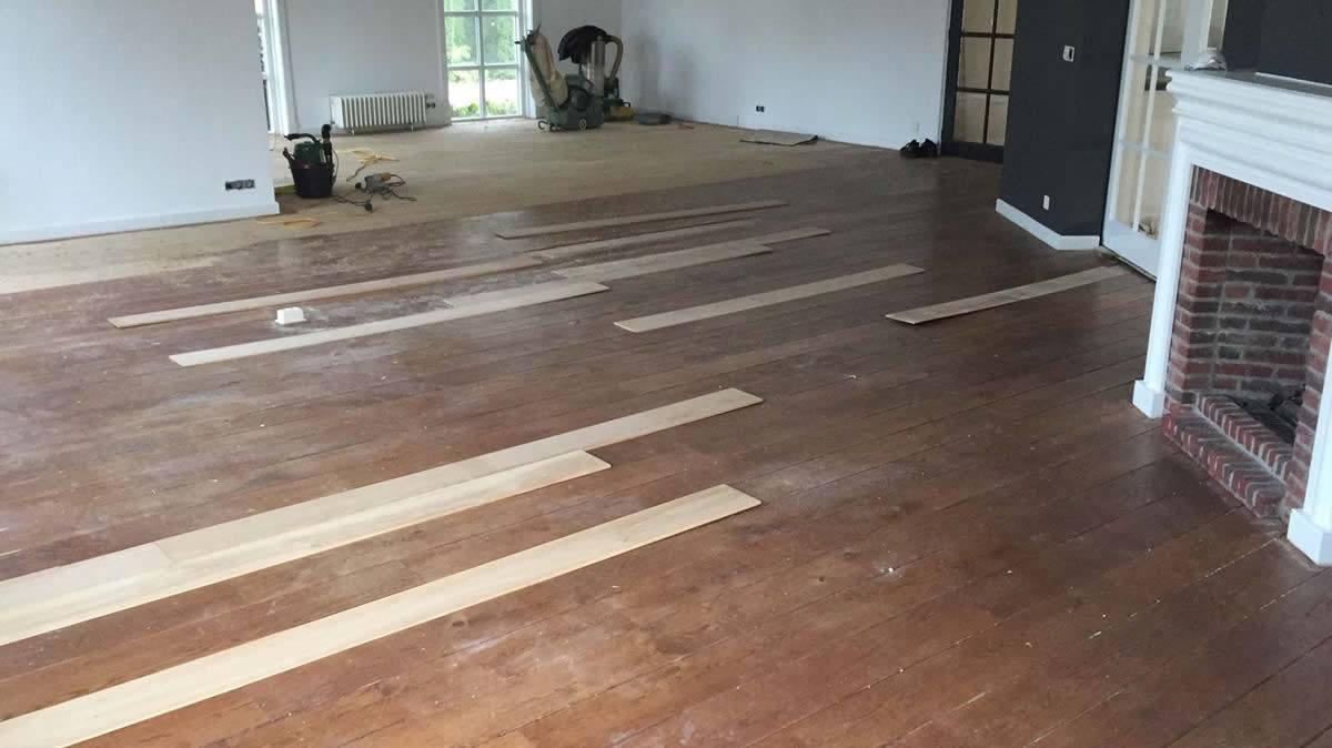 Eiken houten vloer schuren en oliën